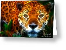 Leopard Watching At His Prey Greeting Card by Pamela Johnson