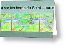 C'est Sur Les Bords Du Saint-laurent Mug Shot Greeting Card