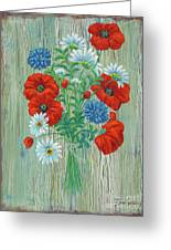 Les Coquelicots Greeting Card