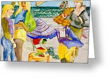 Les Demoiselles Of Santa Cruz V4 Greeting Card by Susan Cafarelli Burke