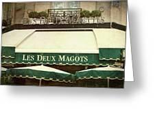Les Deux Magots - #1 Greeting Card