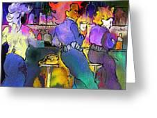 Les Filles Du Cafe De La Nuit Greeting Card