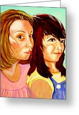 Les Meilleures Amies   Hanna And Yasmine Greeting Card