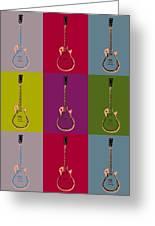 Les Paul Colorful Poster Greeting Card
