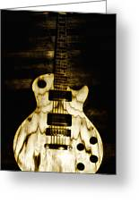 Les Paul Guitar Greeting Card by Bill Cannon