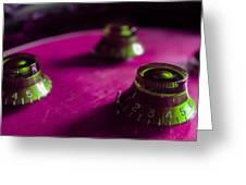 Les Paul Guitar Controls Series Greeting Card