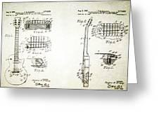 Les Paul Guitar Patent 1955 Greeting Card