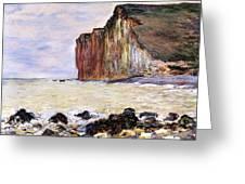 Les Petites Dalles Greeting Card by Claude Monet