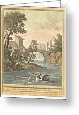 Les Poissons Et Le Cormoran (the Fish And Thecormorant) Greeting Card