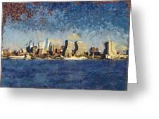 Less Wacky Philly Skyline Greeting Card