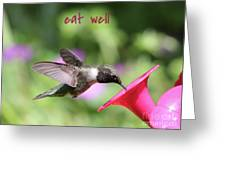 Lessons From Nature - Eat Well Greeting Card