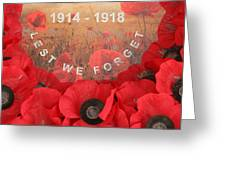 Lest We Forget - 1914-1918 Greeting Card