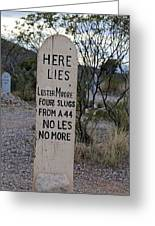 Lester Moore Boot Hill Greeting Card