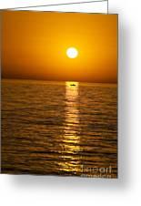 Lesvos Sunset Greeting Card by Meirion Matthias