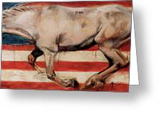 Let Freedom Run Greeting Card by Mary Leslie