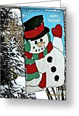 Let It Snow - Happy Holidays Greeting Card