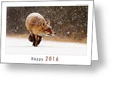 Let It Snow 4 - New Years Card Red Fox In The Snow Greeting Card