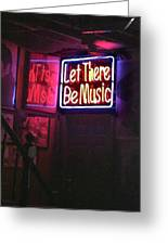 Let There Be Music Greeting Card