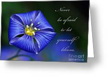 Let Yourself Bloom Greeting Card