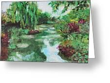 L'etang De Claude Monet, Giverny, France Greeting Card