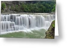 Letchworth Falls Sp Lower Falls Greeting Card