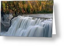 Letchworth Falls Sp Middle Falls Greeting Card