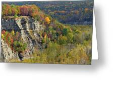Letchworth Falls State Park Gorge Greeting Card