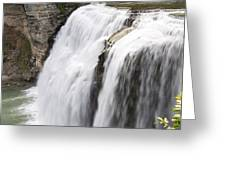 Letchworth Middle Falls Greeting Card by Michael Chatt