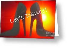 Lets Dance Greeting Card