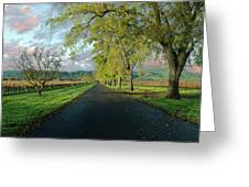 Let's Drive Through The Vineyard Greeting Card