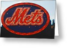 Lets Go Mets Greeting Card by Richard Bryce and Family