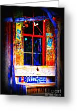 Let's Go To Luckenbach Texas Greeting Card