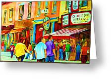 Lets Meet For Lunch Greeting Card
