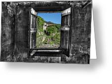 Let's Open The Windows - Apriamo Le Finestre Greeting Card