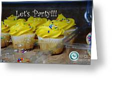 Let's Party Cupcakes Greeting Card