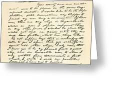 Letter From Abraham Lincoln To Alden Greeting Card