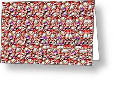 Letter J Stereogram Greeting Card