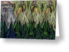 Lettuce Greens Radish Forest Greeting Card
