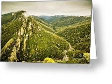 Leven Canyon Reserve Tasmania Greeting Card