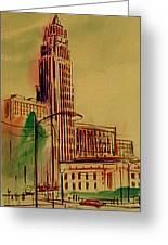 Leveq-lncoln Tower Columbus Ohio Greeting Card