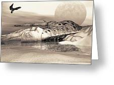 Leviathan's Lament Greeting Card