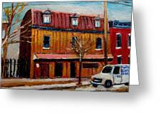 Levine Brothers Plumbers Montreal Greeting Card