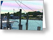 Lewes Canal Late Morning Greeting Card
