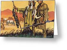 Lewis And Clark Expedition Scene Greeting Card
