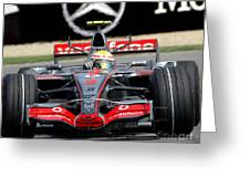 Lewis Hamilton, Mclaren- Mercedes Mp4-22 Greeting Card