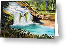 Lewis River Falls Greeting Card