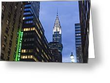 Lexington Avenue, Chrysler Building, New York  Greeting Card by Juergen Held