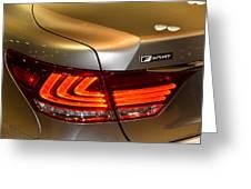Lexus Ls 460 F Sport Tail Light Greeting Card
