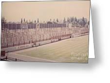 Leyton Orient - Brisbane Road - Buckingham Road Terrace South Goal 1 - August 1986 Greeting Card