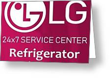 Lg Refrigerator Service Center Greeting Card